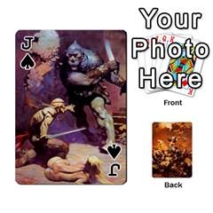 Jack Baraja Frazetta By Fran Xab   Playing Cards 54 Designs   Qmfnhc5m5vwg   Www Artscow Com Front - SpadeJ