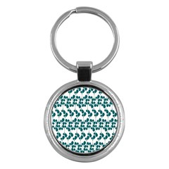 Flower Tree Blue Key Chains (round)  by AnjaniArt