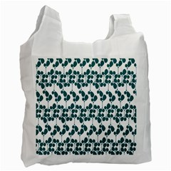 Flower Tree Blue Recycle Bag (One Side)
