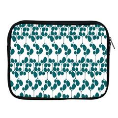 Flower Tree Blue Apple Ipad 2/3/4 Zipper Cases by AnjaniArt