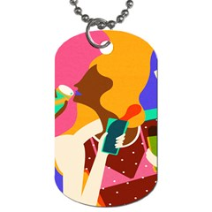 Girl Colorful Copy Dog Tag (one Side) by AnjaniArt