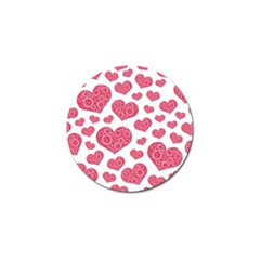 Heart Love Pink Back Golf Ball Marker (10 Pack) by AnjaniArt
