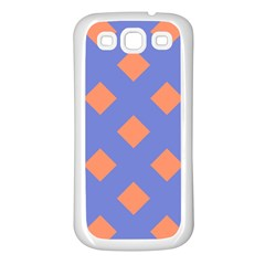 Orange Blue Samsung Galaxy S3 Back Case (white) by AnjaniArt