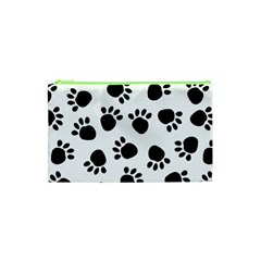 Paws Black Animals Cosmetic Bag (xs) by AnjaniArt