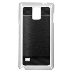On Black Samsung Galaxy Note 4 Case (White) by AnjaniArt