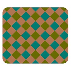 Plaid Box Brown Blue Double Sided Flano Blanket (Small)  by AnjaniArt