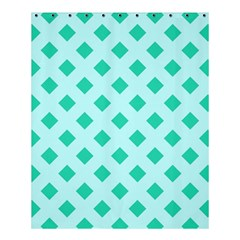 Plaid Blue Box Shower Curtain 60  X 72  (medium)  by AnjaniArt
