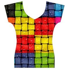 Pinterest Water Colorfull Women s V-Neck Cap Sleeve Top