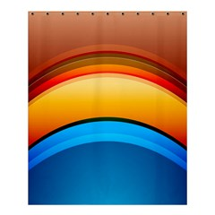 Rainbow Color Shower Curtain 60  X 72  (medium)  by AnjaniArt
