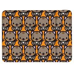 Sitcat Orange Brown Samsung Galaxy Tab 7  P1000 Flip Case by AnjaniArt