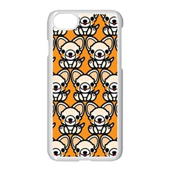 Sitchihuahua Cute Face Dog Chihuahua Apple iPhone 7 Seamless Case (White) by AnjaniArt