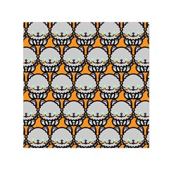 Sitpersian Cat Orange Small Satin Scarf (square) by AnjaniArt