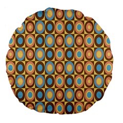 Round Color Large 18  Premium Flano Round Cushions by AnjaniArt