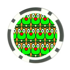 Sitfrog Orange Face Green Frog Copy Poker Chip Card Guards (10 Pack)  by AnjaniArt