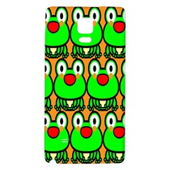 Sitfrog Orange Face Green Frog Copy Galaxy Note 4 Back Case by AnjaniArt
