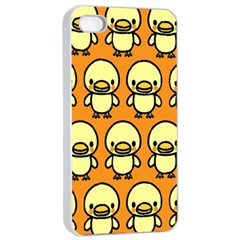 Small Duck Yellow Apple Iphone 4/4s Seamless Case (white) by AnjaniArt