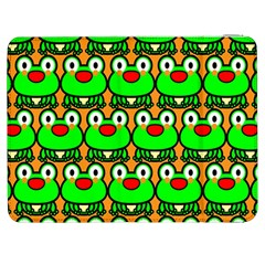 Sitfrog Orange Green Frog Samsung Galaxy Tab 7  P1000 Flip Case by AnjaniArt