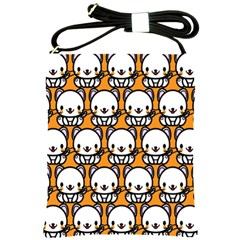 Sitwhite Cat Orange Shoulder Sling Bags by AnjaniArt