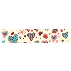 Valentine Heart Pink Love Flano Scarf (small) by AnjaniArt
