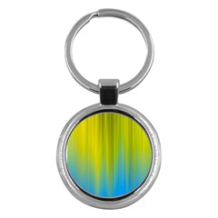 Yellow Blue Green Key Chains (round)  by AnjaniArt