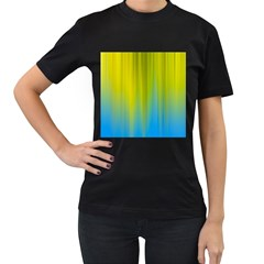 Yellow Blue Green Women s T-Shirt (Black)