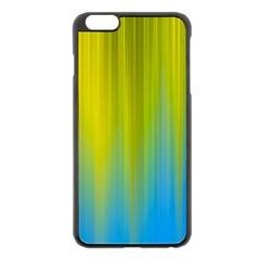 Yellow Blue Green Apple Iphone 6 Plus/6s Plus Black Enamel Case by AnjaniArt