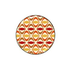 Wave Orange Red Yellow Rainbow Hat Clip Ball Marker (4 Pack) by AnjaniArt