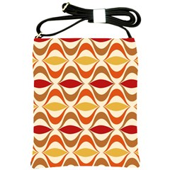 Wave Orange Red Yellow Rainbow Shoulder Sling Bags by AnjaniArt