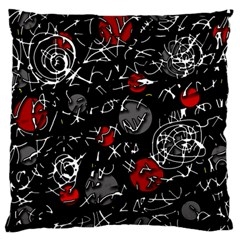 Red Mind Large Flano Cushion Case (two Sides) by Valentinaart