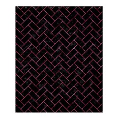 Brick2 Black Marble & Pink Marble Shower Curtain 60  X 72  (medium) by trendistuff