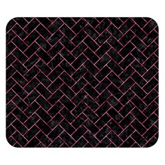 Brick2 Black Marble & Pink Marble Double Sided Flano Blanket (small) by trendistuff