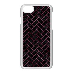 Brick2 Black Marble & Pink Marble Apple Iphone 7 Seamless Case (white) by trendistuff