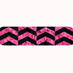 Chevron2 Black Marble & Pink Marble Large Bar Mat by trendistuff