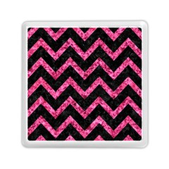 Chevron9 Black Marble & Pink Marble Memory Card Reader (square) by trendistuff