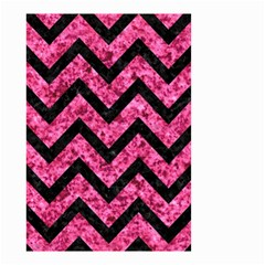 Chevron9 Black Marble & Pink Marble (r) Small Garden Flag (two Sides) by trendistuff