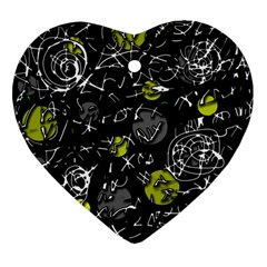 Yellow Mind Ornament (heart)  by Valentinaart