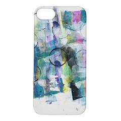 Background Color Circle Pattern Apple iPhone 5S/ SE Hardshell Case