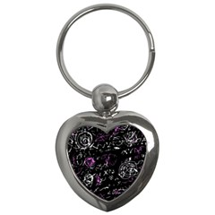 Abstract Mind   Magenta Key Chains (heart)  by Valentinaart