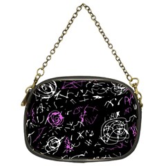 Abstract mind - magenta Chain Purses (One Side)