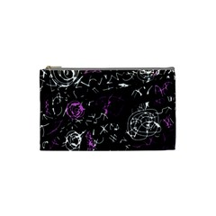 Abstract Mind   Magenta Cosmetic Bag (small)  by Valentinaart