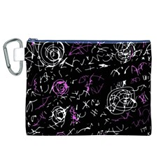Abstract Mind   Magenta Canvas Cosmetic Bag (xl) by Valentinaart