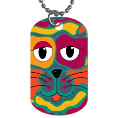 Colorful Cat 2  Dog Tag (two Sides) by Valentinaart