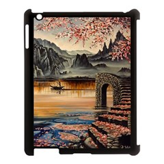Japanese Lake Of Tranquility Apple Ipad 3/4 Case (black) by ArtByThree
