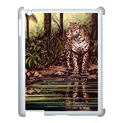 Jaguar In The Jungle Apple Ipad 3/4 Case (white) by ArtByThree