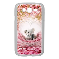 Elephant Heart Plush Vertical Toy Samsung Galaxy Grand DUOS I9082 Case (White)