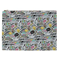 Communication Web Seamless Pattern Cosmetic Bag (xxl)  by Mishacat
