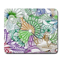Zentangle Mix 1116c Large Mousepads by MoreColorsinLife
