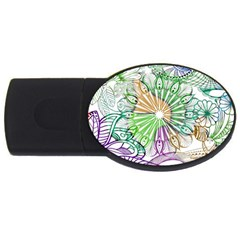 Zentangle Mix 1116c Usb Flash Drive Oval (4 Gb)  by MoreColorsinLife