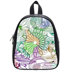 Zentangle Mix 1116c School Bags (small)  by MoreColorsinLife