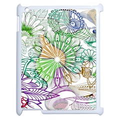 Zentangle Mix 1116c Apple Ipad 2 Case (white) by MoreColorsinLife